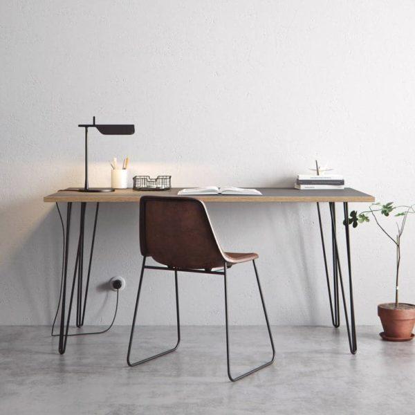 Шпилька стол и обеденный стол - серый Formica Береза ??Фанера & Наши лучшие продавая штыри - Все размеры