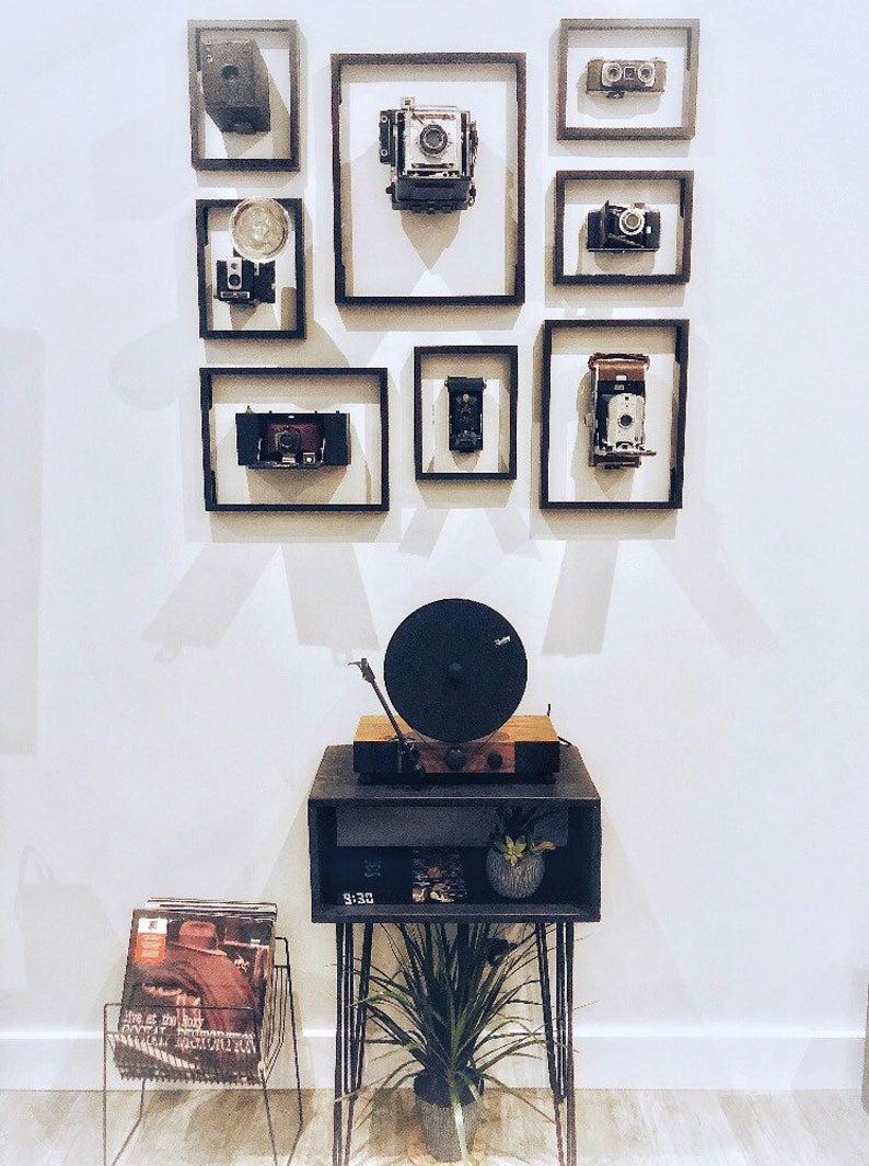 Handmade середины сторона века кровати стол | тумба, тумбочка, небольшие столики, современный ночной стенд промышленной шпильки, вертушки винил