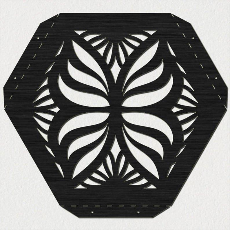 Hexagon Таблица Бабочки с Традиционной Декоративным Стилем прокрутка Legs-DXF файлов вырезать готовую для станков с ЧПУ, лазерной резки и плазменной резки