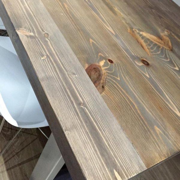 Holborn Промышленные Стиль Деревянные нержавеющей стали Обеденный стол U фасонные Ноги Деревенское ретро