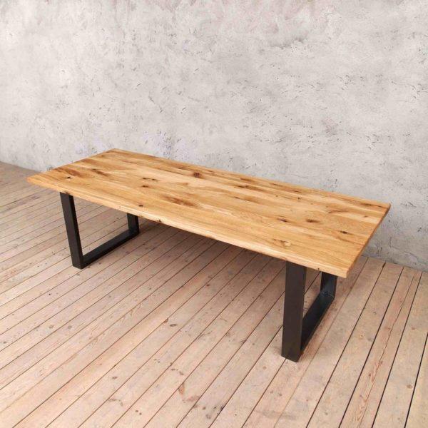 Holborn Натуральный дуб с Graphite Gray Ножки Промышленные Обеденный деревянный стол Сельский мелиорированных Урожай