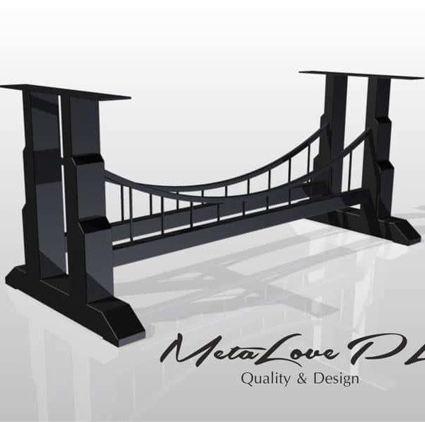 Производственная база, Лофт стиль, журнальный столик, BRIDGE Industrial Таблица базы нестандартного размера Доступные