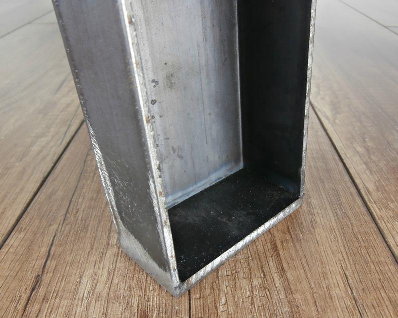 Промышленные ножки для обеденного стола из трапециевидной стали N-образной формы (2 ножки).С-луча Металлические ножки стола.Утюг.