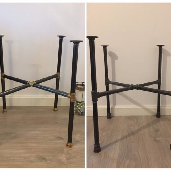 Подстолье для круглого стола из металлических труб IR17