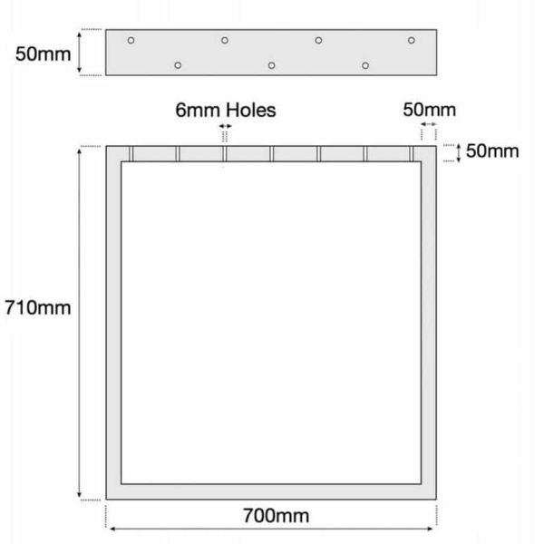 Промышленные площади Сталь Металл Обеденный стол / Bench Base Ноги сверхмощный 50x50mm