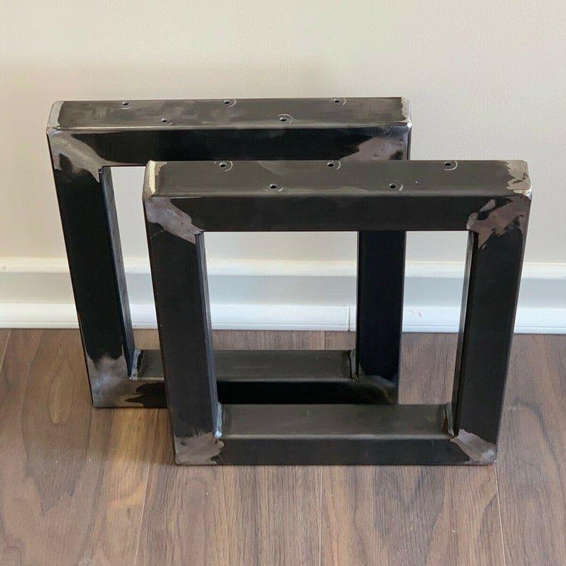 Промышленные квадратной формы Сталь Металл Обеденный стол / Bench Ноги Heavy Duty