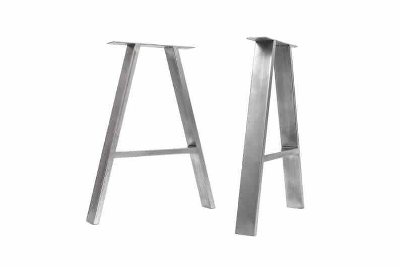 Промышленные Ножки - A-рамная конструкция - Box Раздел сталь, различные размеры и отделки (пара)