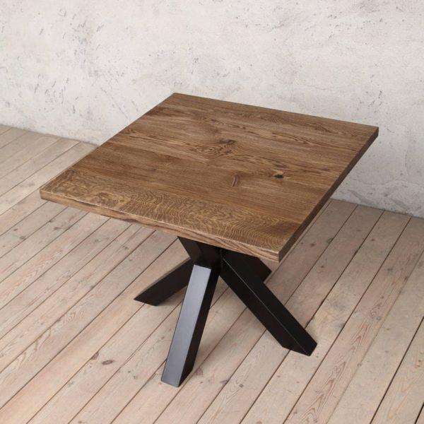 Jacob Square Твердый Обеденный стол Браун Дуб Промышленного
