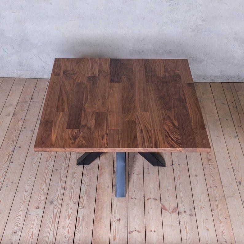 Jacob нашивка Площадь Твердый Обеденный стол древесина Промышленного