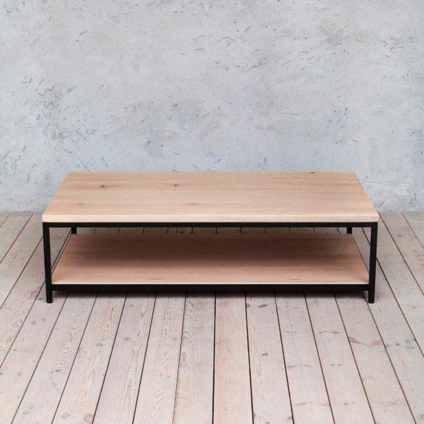 Кен Indurstrial стиль журнальный столик с дополнительной полкой
