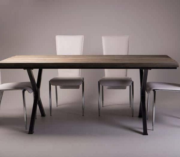 Кью Промышленный деревянный обеденный стол Урожай регенерированного Сельский Х Фасонные Ноги
