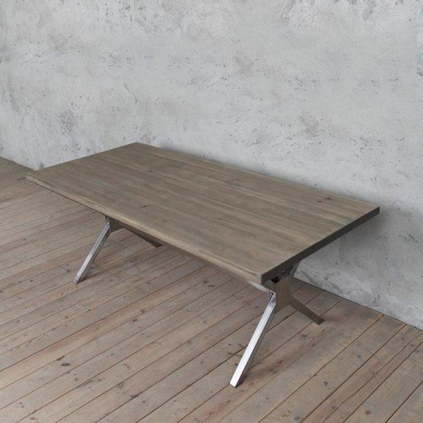 Кью Деревянный СТАЛЕПРОМЫШЛЕННАЯ Стиль Обеденный стол X ножках Сельский Дом Ретро