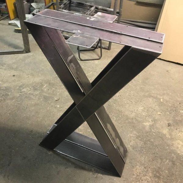 """Ножки для стола 16 """"Плоские стальные ножки X-frame, жим ног, высота 12 & quot;До 16 """"Установить (2)"""