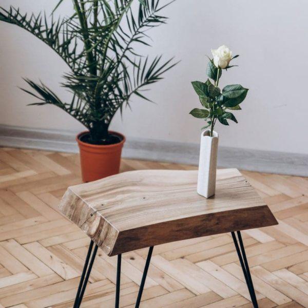 Живая Пограничный журнальный столик, Rustic Wood Slab Журнальный столик, Современные Шпилька Ноги Журнальный столик, Mid Century Журнальный столик