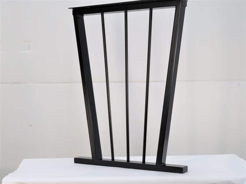 Ножка стола из металла с живым краем / Стол для реки / Стол из эпоксидной смолы / Идеально подходит для любого стиля