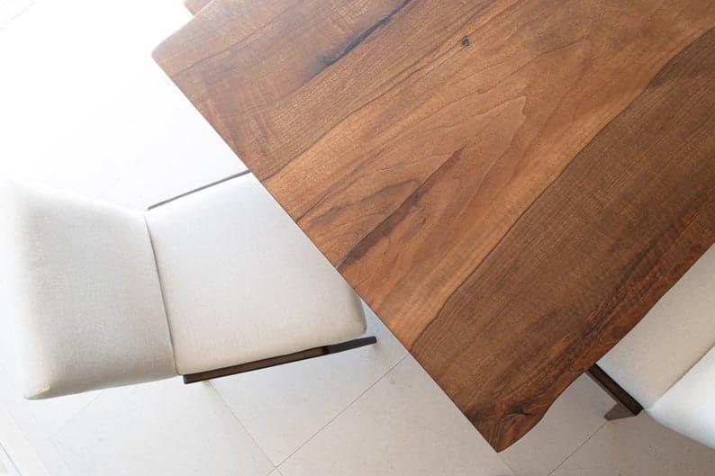 Живая Пограничный орех Обеденный стол - изготавливаемые на заказ