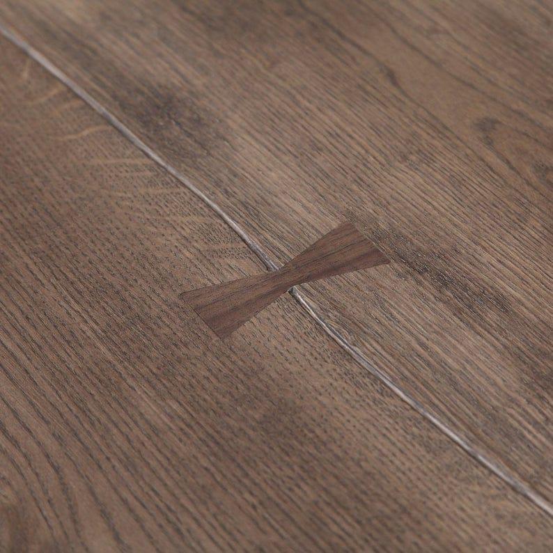 Лондон Браун: Solid Oak Живого Края Промышленные Обеденный стол Деревянная Сельская исправленная Урожай