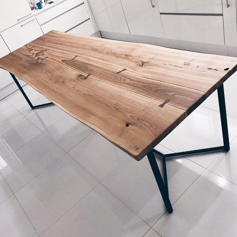 Лондон Solid Живого Пограничный Дуб Промышленные Обеденный стол Деревянная Сельская исправленная Урожай