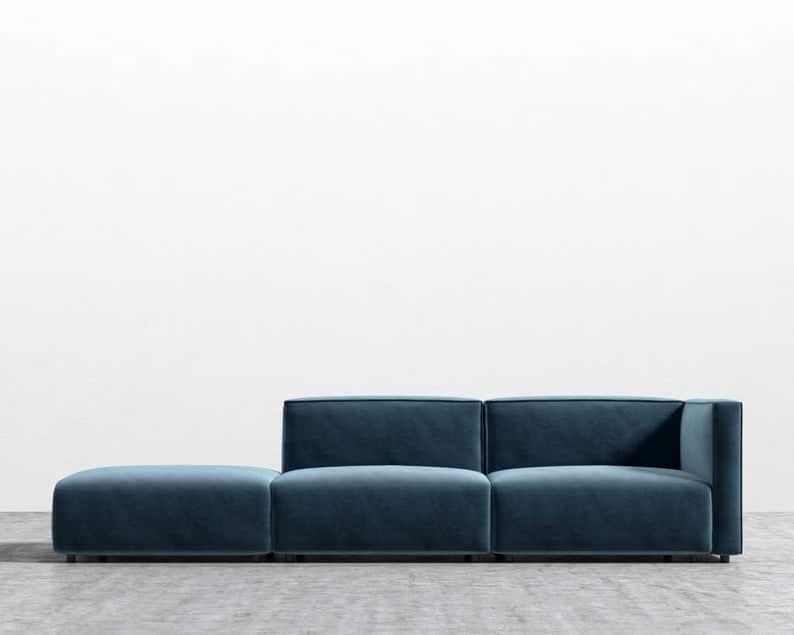 Низкий профиль Хрома Металлическая мебель Нога, Диван Нога 3/4 & Quot H 4pc набор
