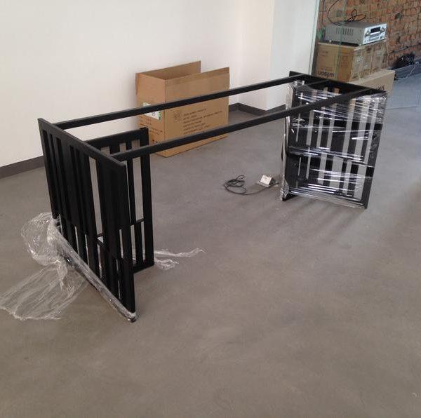 Уникальные металлические ножки класса люкс, промышленные ножки стола, набор из 2 ножек рамы, основание журнального стола, квадратные ножки стола