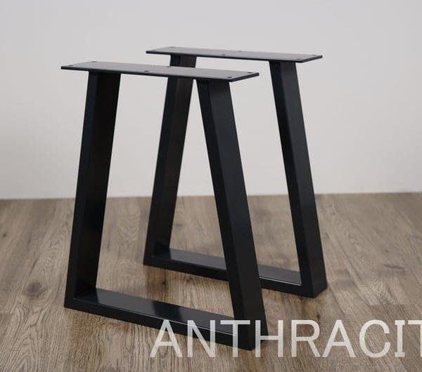Ножки металлические журнальный столик (набор из 2).Стальные ножки для скамьи, красные стальные ножки, журнальный столик.Трапециевидные железные ножки журнального столика