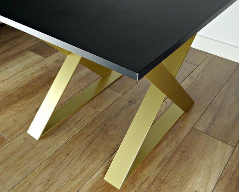 """Комплект ножек металлического журнального столика (2) 16 """"x20"""", стальные ножки бокового стола, железные ножки торцевого стола"""