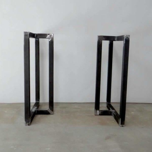 Металлические ножки для обеденного стола 28x28 & quot;(набор из 2).Современные стальные ножки стола для мелиорированной древесины.Промышленная, Золотая настольная база.Железные ножки стола.