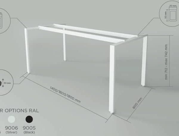 Металлические ножки обеденного стола Промышленные стальные ножки стола