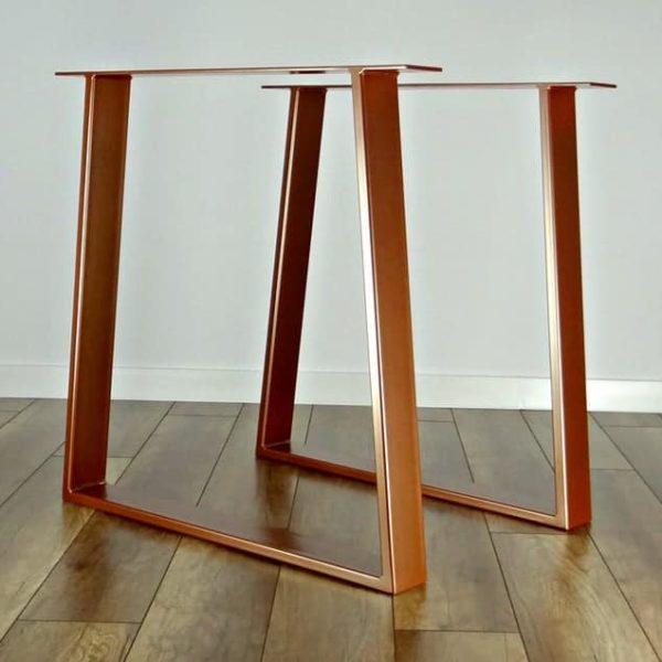 Металлические ножки для обеденного стола (набор из 2).Медные цветные стальные ножки стола.Основание стола.Трапециевидный металлический каркас для середины века современного стола