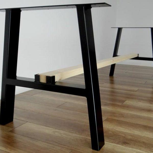 Металлические ножки для обеденного стола (набор из 2).Стальные ножки для обеденного стола.Основание стола.Трапециевидный металлический каркас для середины века современного стола