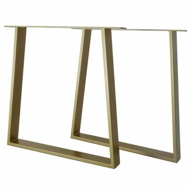Металлические ножки для обеденного стола (набор из 2).Стальные ножки кухонного стола.Основание стола.Трапеция 80x20 мм.