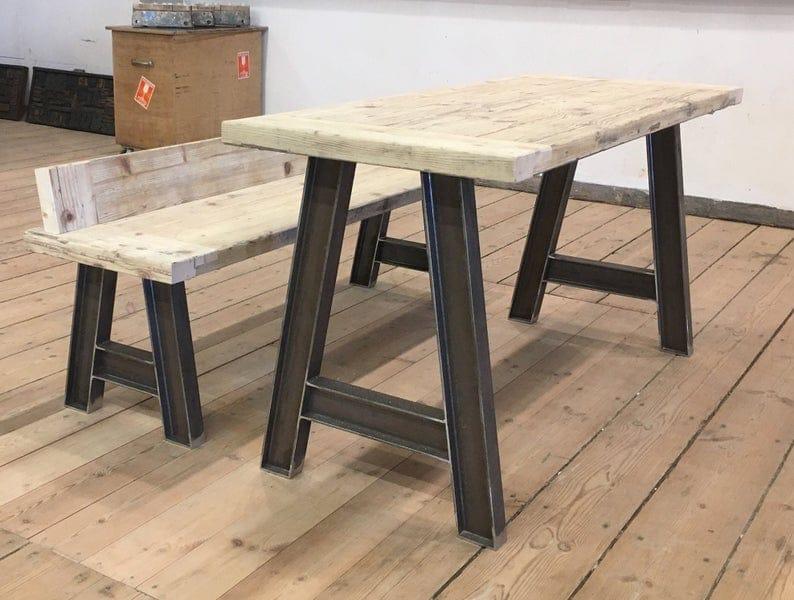 Металлические ножки для обеденного стола.Сверхмощные стальные ножки стола.Железные ножки стола.Индустриальный, Форма для Восстановленной Древесины