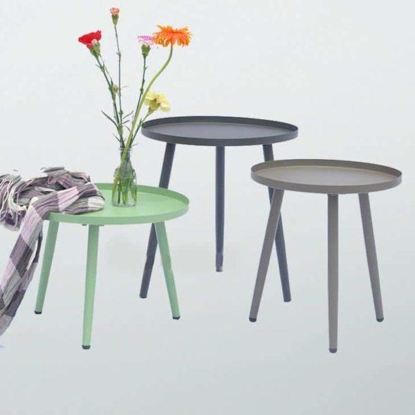 Металл Приставной стол с современным дизайном, небольшой журнальный столик, Открытый номер круглый столику для дома в стиле минимализма