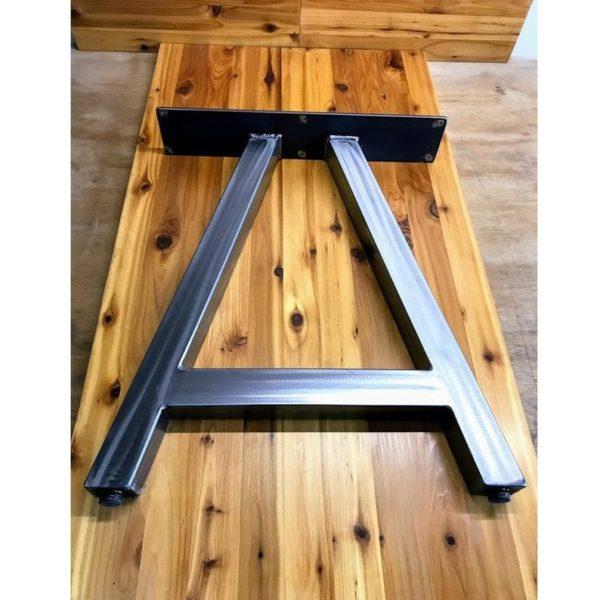 Металлические ножки стола - стиль рамки - матовый никель - набор из 2 - регулируемые ножки