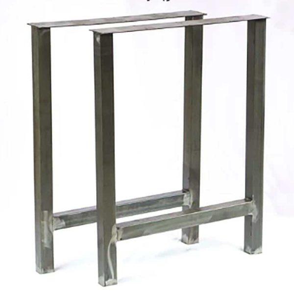Металлические ножки стола - H Style Steel Base Base 2 & quot;квадратная труба - идеально подходит для обеденного стола, консоли, стола, скамейки (набор из 2)