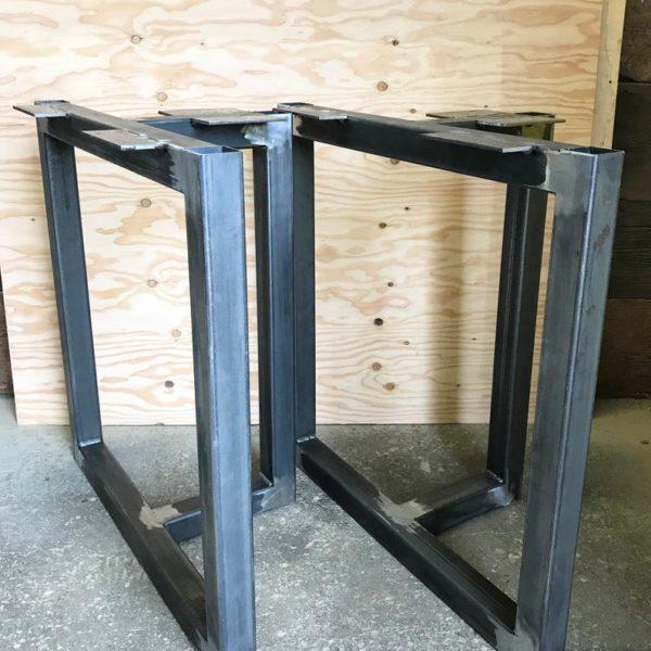 Металлические ножки стола - T-образная основа стола для сбора урожая 2 & quot;Квадратная труба - идеально подходит для тумбочек, журнального столика, консоли, скамейки!(набор из 2)