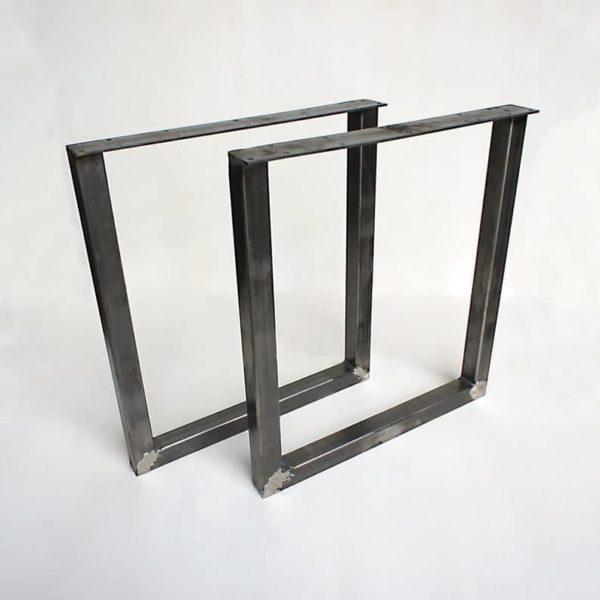 Металлические ножки - U-образная стальная основа 2 & quot;квадратная труба - идеально подходит для обеденного стола, консоли, стола, скамейки (набор из 2)