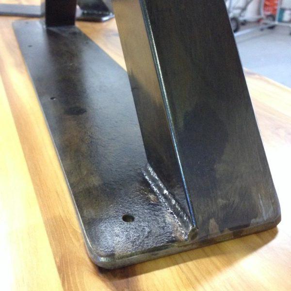 Металлические ножки стола - стиль X - почерневшая отделка - набор из 2 - регулируемые ножки для выравнивания