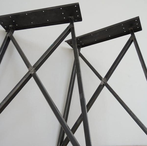 "Металлические ножки стола, 28 ""Ножки стола, Ножки стола рамки бабочки, высота 26 & quot;- 32 & quot;Набор (2)"