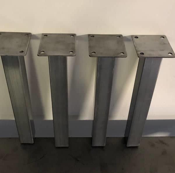 Металлические ножки стола - сообщение Нога - Скамья нога - Бар нога - Обеденные ножки стола (набор из 4)