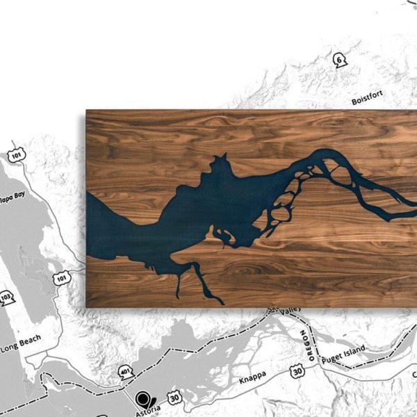Современная эпоксидная смола Walnut Wood Columbia River Conference стол с металлическими ножками стали