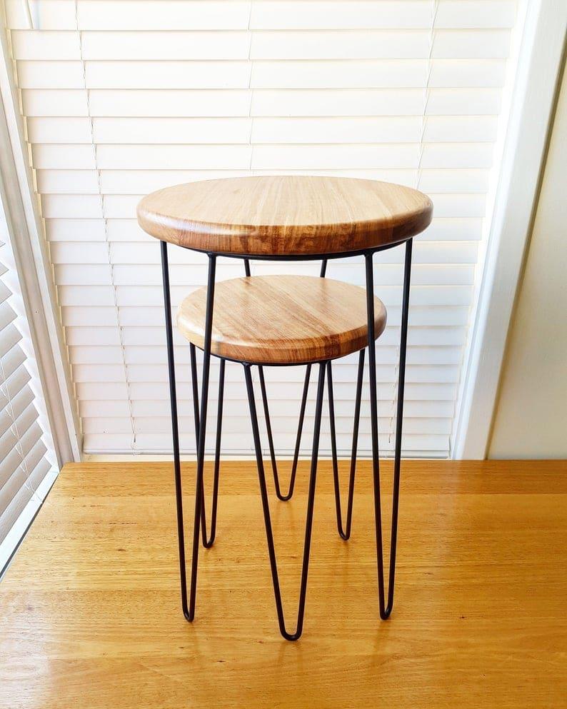 Олли & # 39 S NEST - Вложенные таблицы, Приставной стол, журнальный стол, журнальный столик, стенд завод, шпилька Leg стол, деревянный стол, металлический стол, вложенная таблица
