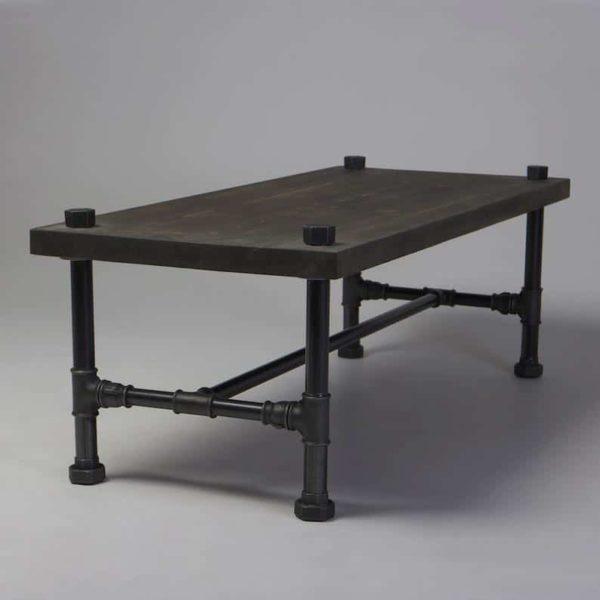 Пол Классический Деревянная Металлическая Журнальный столик Сельский исправленная Ретро Vintage