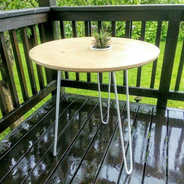 Подстолье для круглого стола с ножками - шпильками IR08