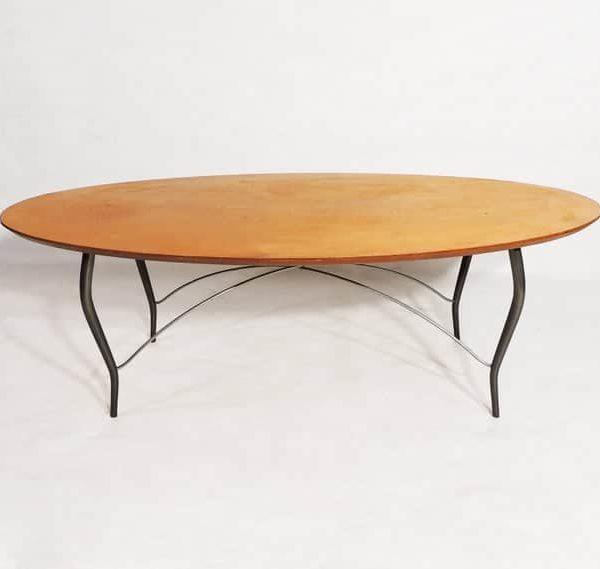 Постмодерн Овальный Surfboard Фанера металлический каркас Чайный столик