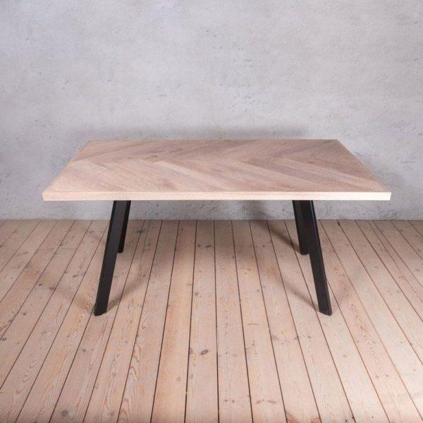 Принц Елочка Дуб Промышленный стиль Обеденный стол