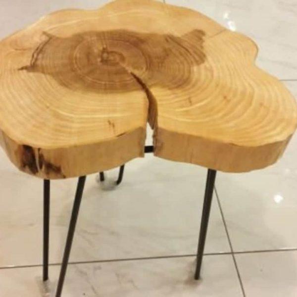 Круглый журнальный стол, Живая Пограничный журнальный стол, Rustic Wood Slab журнальный стол, Mid Century Журнальный столик, Современные Вуд журнальный стол-RotieCo