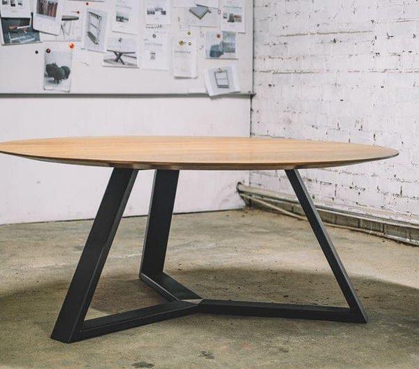 Круглый обеденный стол / Промышленный стол / Промышленная мебель / Ферма стол / Кухонный стол / Wood / Мебель / Мебель для столовых