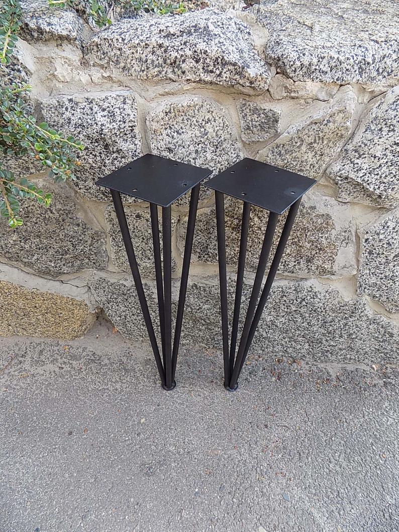Набор 2 шпильки ножка / 4 стержня шпилька ножка стола / середина века Modern / ножки стола / ножки журнальный столик / поделки современные ножки / металлическая ножка / ножка стола