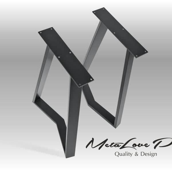 Набор из 2-х, трапеции формы, промышленных ног, YAKO 60.20 Трапециевидной ножки стола
